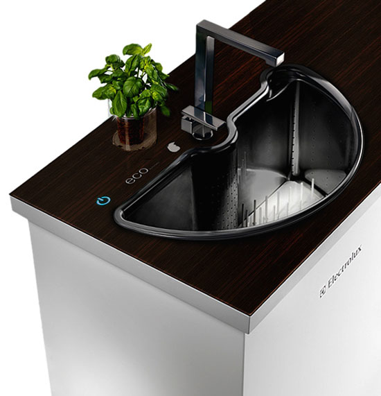 Electrolux eco pure washer sink with two rotatable parts