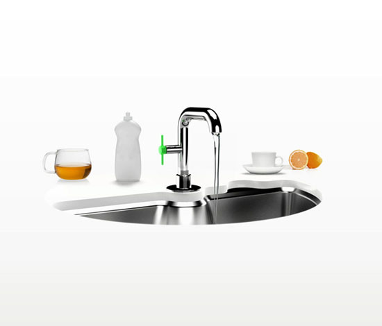 Electrolux eco pure washer sink with two rotatables part