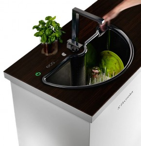 Electrolux eco pure washer sink with two rotatables parts