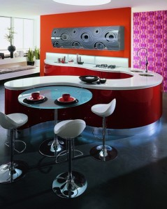 Elegant lifestyle red contemporary kitchen design ideas