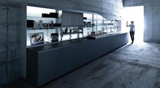 Ergonomic Kitchen Design features nano-coated surfaces scratch resistant