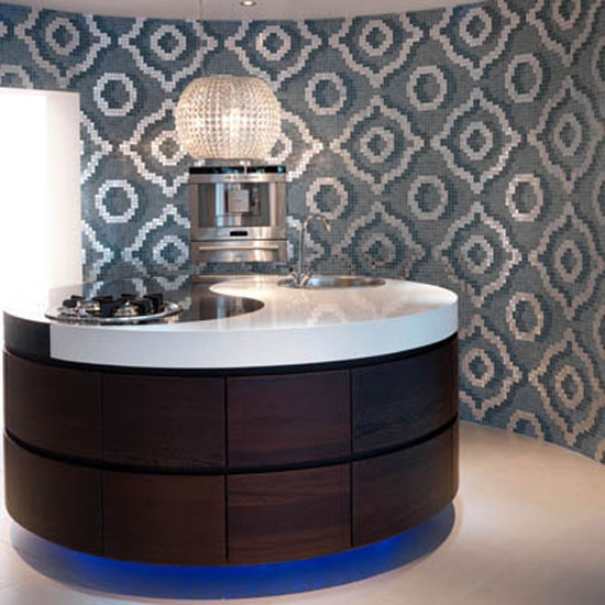 Evitavonni Yin Yang Kitchen island with extractor fan and island top well coordinated
