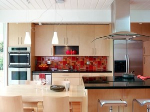 Exotic Asian Kitchen with various models kitchen cabinets