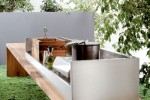 Freestanding Kitchen for indoor outdoor kitchen made from teak and stainless steel