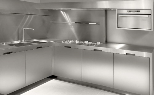 Full Stainless Steel Kitchen Strato Italian manufacturer