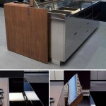 Future Kitchen Island with Remote Controlled faucet pops up as the cover by Ernestomeda