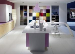 Future Kitchen beautiful color Glossy white cabinets countertops