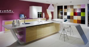Future Kitchen in beautiful color Glossy white cabinets and countertops