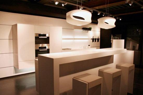 Futuristic minimalist kitchen Design by Eggersmann