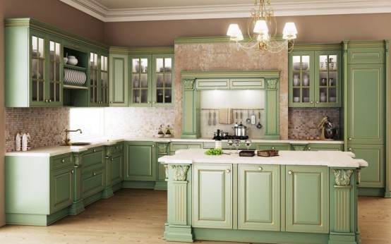 Giulia Novars Russian kitchen company in classic furnitures English style