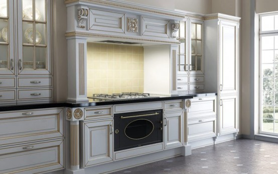 Giulia Novars Russian kitchens company in classic furniture English style