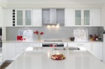 Glossy White Kitchen Design cabinet and furniture by Australian kitchen designers