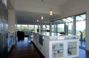 Glossy White Kitchen Design furniture and cabinets by Australian kitchen designers