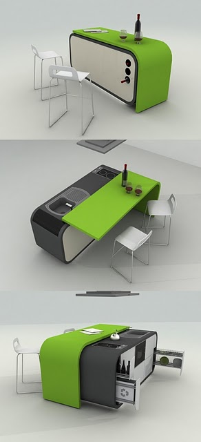 Green kitchen design signal of wealth prosperity and growth for you who love bright color