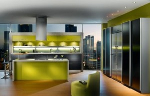 Green kitchen design signal of wealth prosperity and growth for you who love bright colors