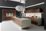 Handleless Kitchen Design made of natural wood Vao kitchens by Team7