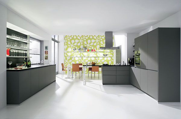 Handleless Kitchens completed with gorgeous high-end cabinets from Alno new Starline kitchens