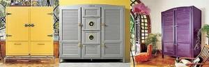 Italian Antique refrigerator Made in cherry wood Lebanese cedar and mahogany