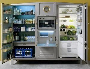 Italian Antique refrigerator Made in cherry woods Lebanese cedar and mahogany