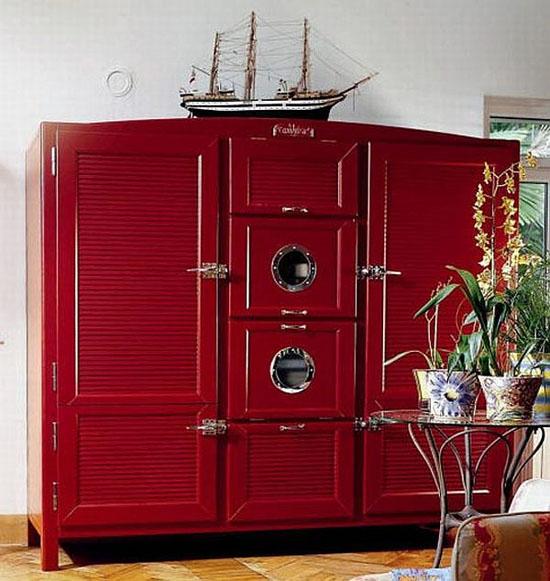 Italian Antique refrigerators Made in cherry wood Lebanese cedar and mahogany