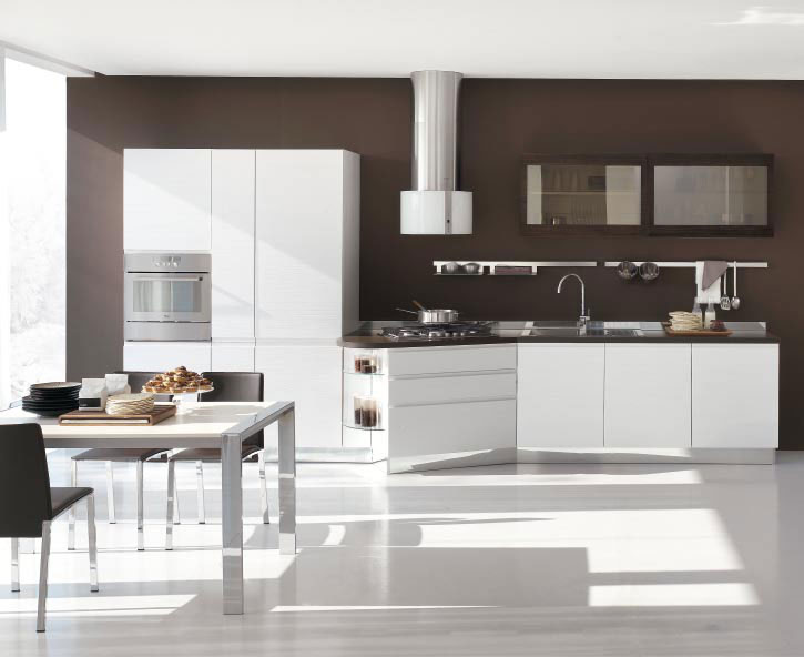 Italian kitchen designs with white cabinets become very for Kitchen ideas modern white