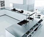 Italian modern kitchens designed large scale made from cord glossy lacquer glass and ebony