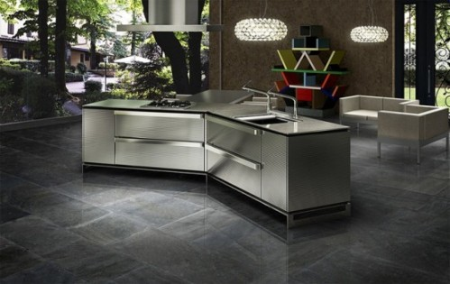 Japanese Dark Metallic Kitchen Style Innovations by Toyo Kitchen