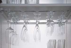 Kitchen Storage Solution new SieMatic MultiMatic system use of slender metal bars