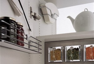 Kitchen Storage Solutions new SieMatic MultiMatic system use of slender metal bars