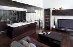 Kitchens and Living Room become one area with Cuisia by TOTO