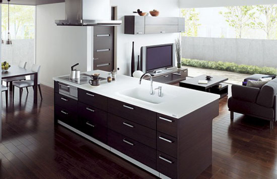 Kitchens and Living Rooms become one area with Cuisia by TO