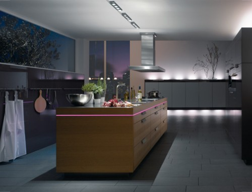 LED kitchen lighting sense to make wider space