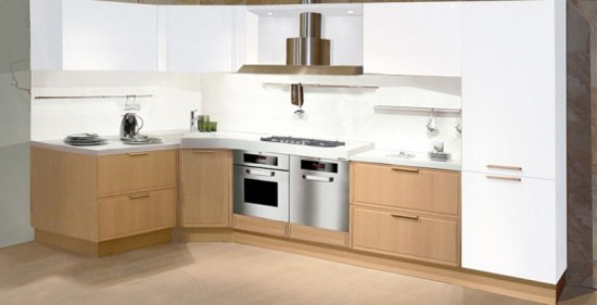 Light Oak Wooden classic material for good wooden kitchen Design