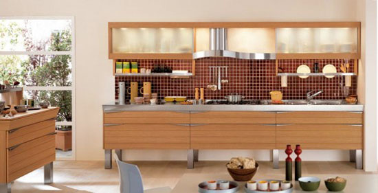 Light Oak Wooden classic material for good wooden kitchen Designs