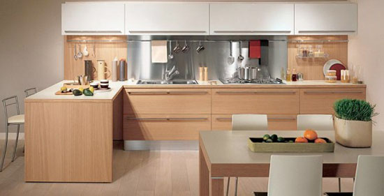 Light Oak Wooden classic material for good wooden kitchens Design