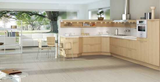 Light Oak Wooden classic material for good wooden kitchens Designs