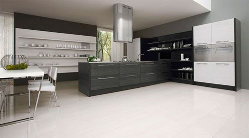 Minimalist Black & White Kitchen stylist and minimalist Design by Futura Cucine