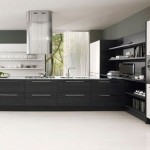 Minimalist Black White Kitchen stylist and minimalist Design by Futura Cucine