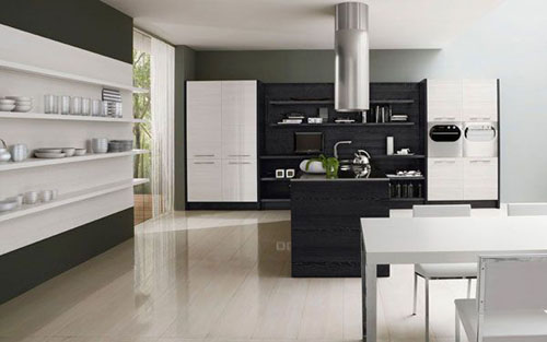 Minimalist Black White Kitchen stylist minimalist Design by Futura Cucine
