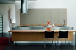 Modern Omnia kitchen use natural oak or grey oak furniture by Bontempi