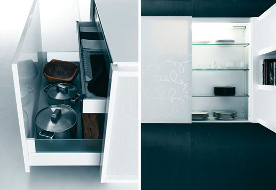 Modern Pure White Kitche Cabinet and Accessories – Yara from Caesar