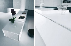 Modern Pure White Kitchen Cabinet and Accessories – Yara from Caesar