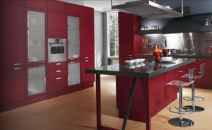 Modern classic design finished with attractiveflat rectangular handles and countertops