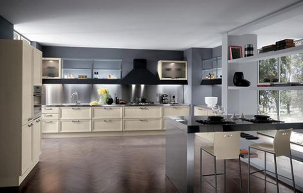 Modern Classic Kitchen Design Based On A Huge Iconic Yin