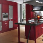 Modern classic kitchen design based on a huge, iconic Yin Yang symbol with black and white areas