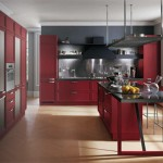 Modern classic kitchen design based on a huge, iconic Yin Yang symbol with black white area