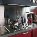 Modern classic kitchens design based on a huge, iconic Yin Yang symbol with black and white area