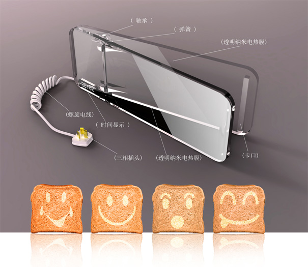 Modern cooking toaster designs with heating control and nano membrance
