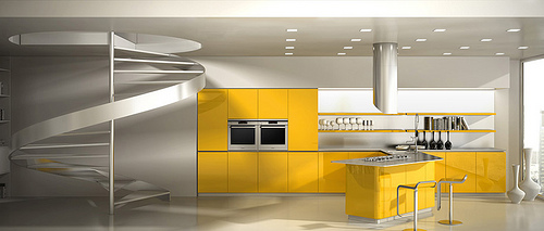 Modern kitchen Effeti Available Blue kitchen designed by Giancarlo Vegni