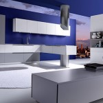 Modern kitchen Effeti Available in Blue kitchen designed by Giancarlo Vegni